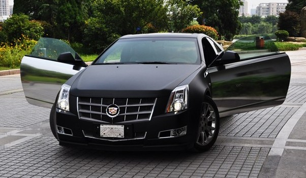 Cadillac CTS Coupe in matteblack  chrome in China  CarNewsChina