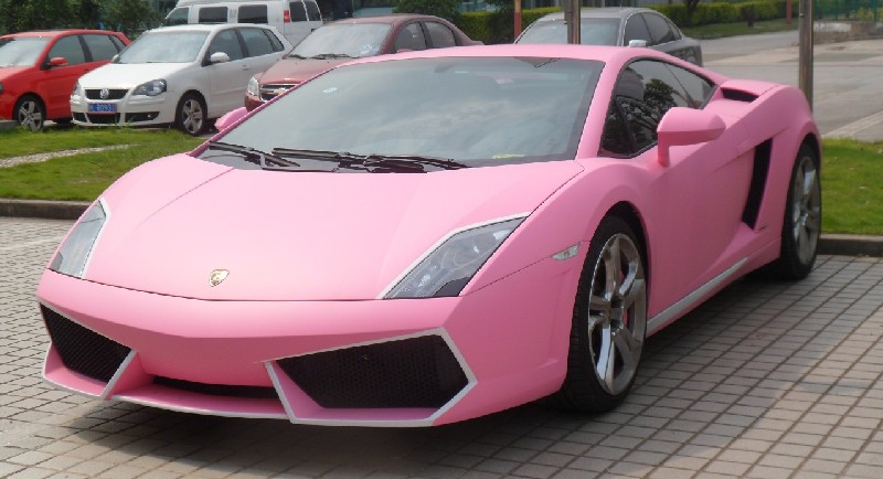 here we have another fine pink sporty car this is a lamborghini gallardo in pink and a bitta white seen by reader navigator 84 in the great city of - Sports Cars Lamborghini Pink