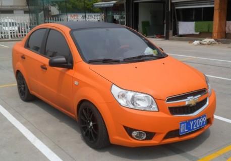 Chevrolet Lova in Orange in China