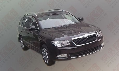 Skoda Superb Wagon testing in China