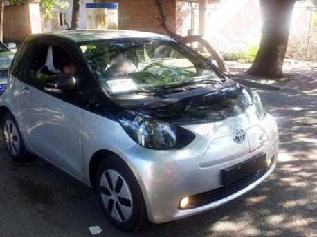 Toyota iQ EV testing in China