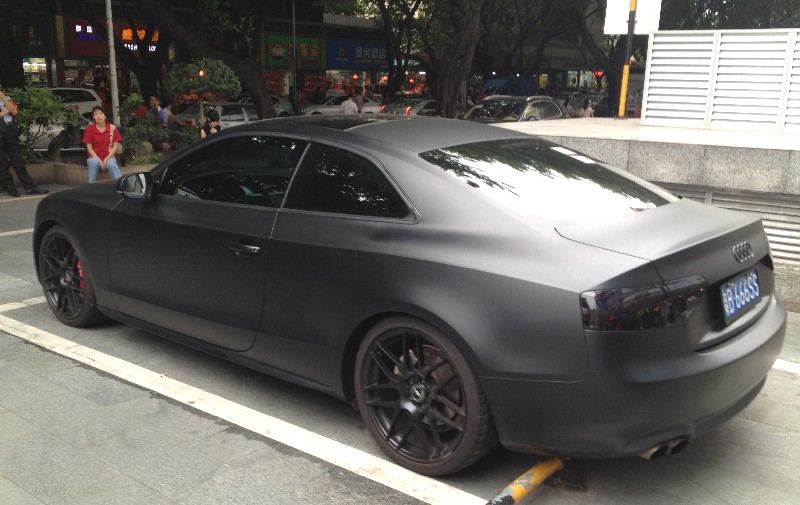matte black audi. audi a5 coupe is matte black in china
