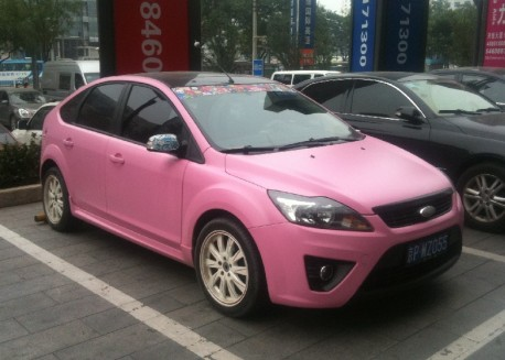 Ford Focus is very Pink in China