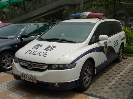 Honda Odyssey police car from China