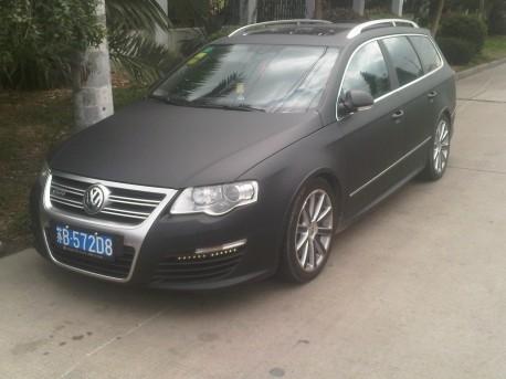 Volkswagen Passat R36 Wagon is matte black in China