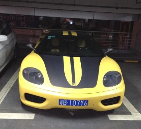 Spotted in China: Ferrari 360 Novitec Rosso