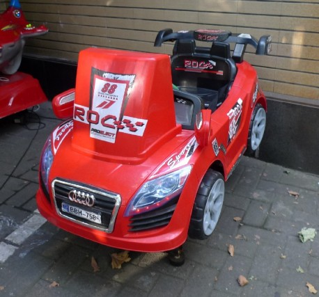 Audi TT Convertible is a Coin Operated Kiddie Ride in China