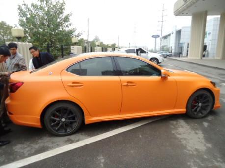 Lexus IS250 is Orange in China