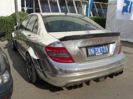 Mercedes-Benz C63 AMG is Bling in China