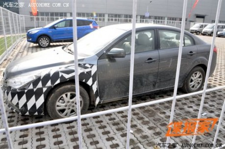 Spy Shots: facelifted FAW-Besturn B50 did not change that much