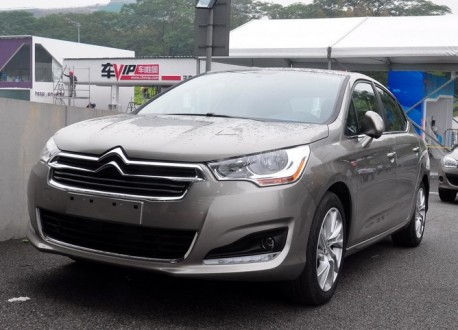 China-made Citroen C4L arrives at the Guangzhou Auto Show