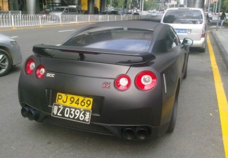 Nissan GT-R is matte black in China