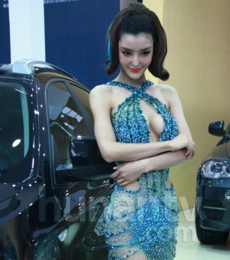 Hot Chinese Girl at the Changsha Auto Show
