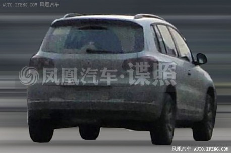Spy Shots: facelifted Volkswagen Tiguan testing in China, gets Blue Motion