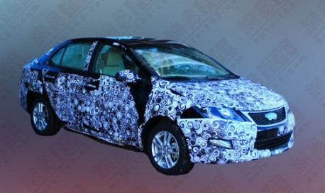 Spy Shots: Chery A2 sedan testing in China