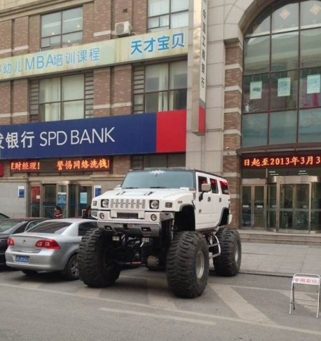 Hummer H2 is a Monster Truck in China