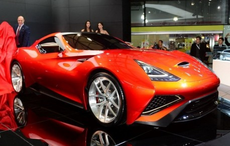 Icona Vulcano debuts in red at the Shanghai Auto Show