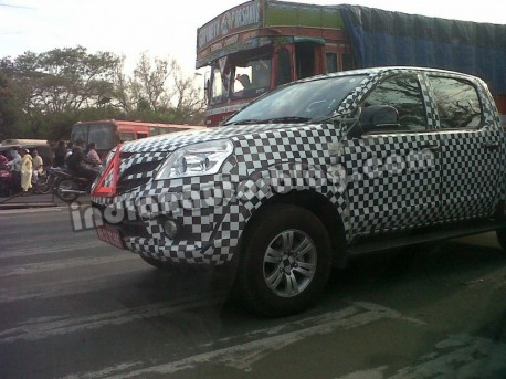 Spy Shots: Foton Tunlan pickup truck testing in India