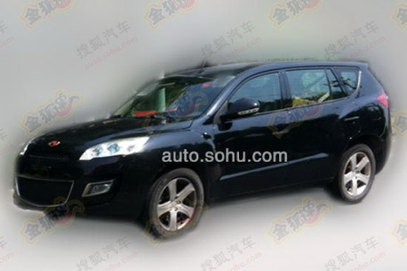 Spy Shots: Geely Emgrand EX8 SUV seen testing in China