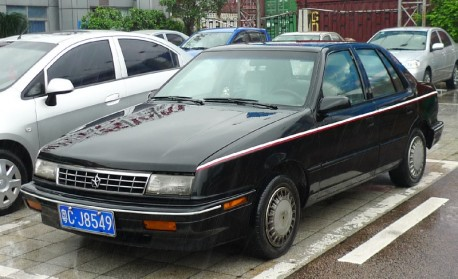 Plymouth Sundance is Black in the Rain in China