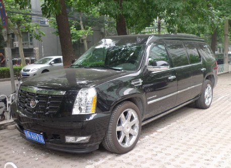 Cadillac Escalade is stretched in China