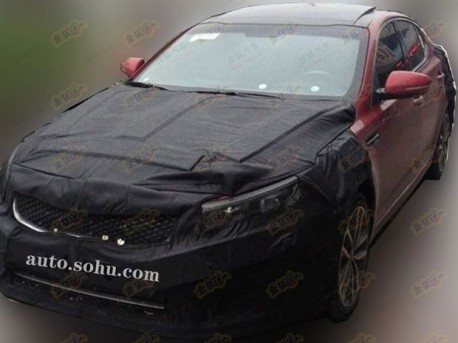 Spy Shots: facelifted Kia K5 testing in China