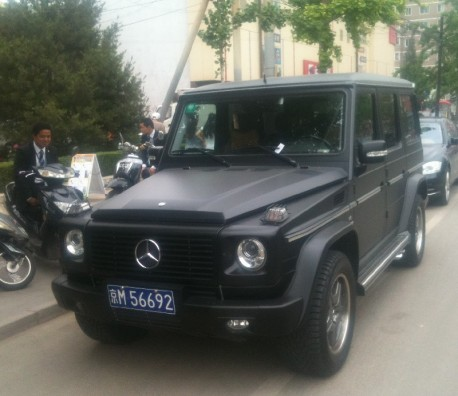 Mercedes-Benz G55 AMG is matte black in China