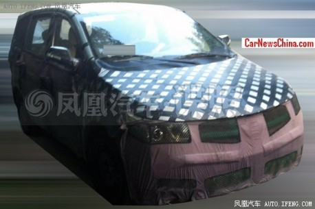 Spy Shots: new Baojun MPV testing in China