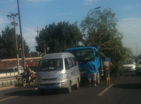 Truck carrying Big Tree hits minivan in China