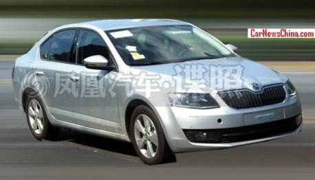 Spy Shots: Skoda Octavia doing the Tests in China