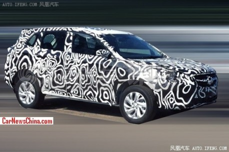 Spy Shots: Beijing Auto C51X SUV seen testing in China