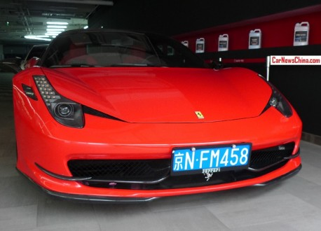 Novitec Rosso Ferrari 458 Italia has a License in China