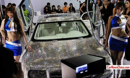 The shiny Chrysler 300C of China, with Girls