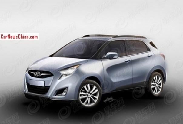 Spy Shots: renderings of the new Hyundai ix25 SUV for China