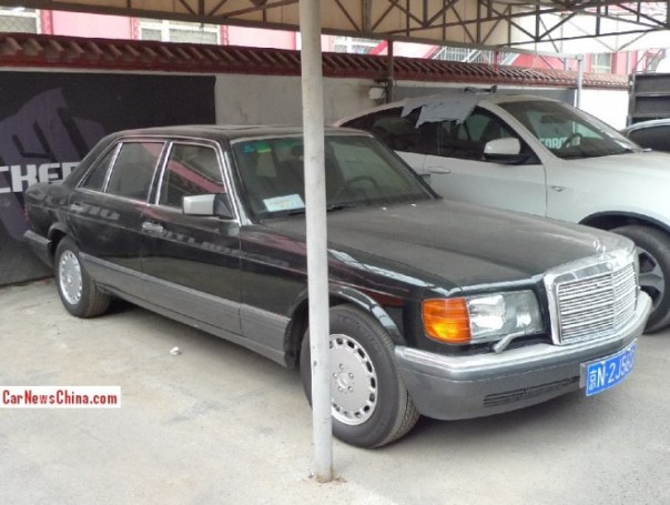 Spotted in China: W126 Mercedes-Benz 560 SEL in black