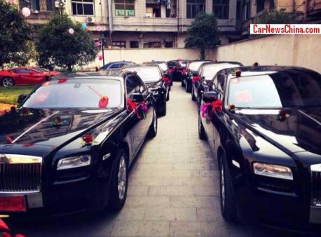 Traffic Jam on a Super Car Wedding in China