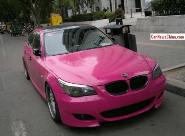 BMW 5Li is Pink in China
