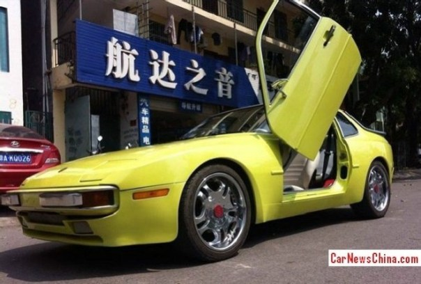 Porsche 944 with Lambo Doors in China