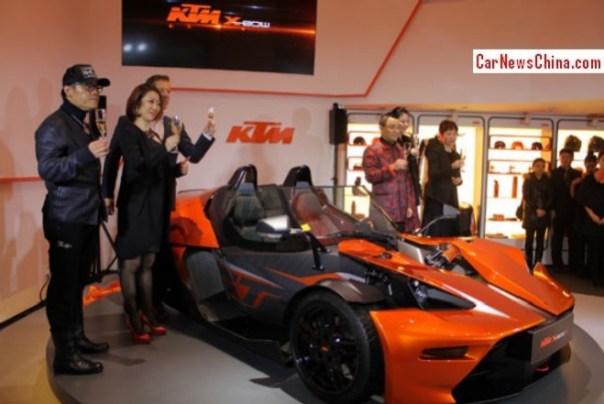 KTM X-Bow GT hits the China car market