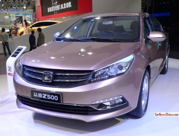 Zotye Z500 sedan debuts on the Beijing Auto Show