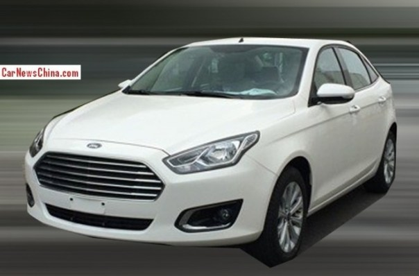 Spy Shots: new Ford Escort is almost Ready for the China car market