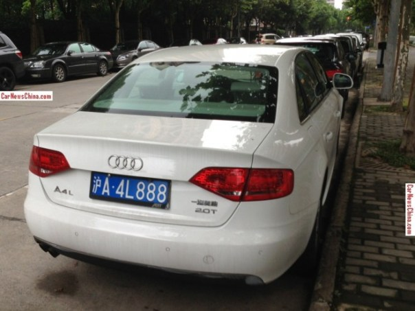 Audi A4L sedan has a License in China