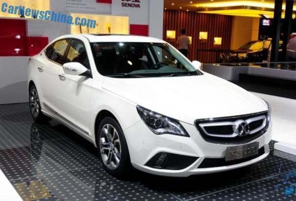 Beijing Auto Senova D60 debuts in China on the Chengdu Auto Show
