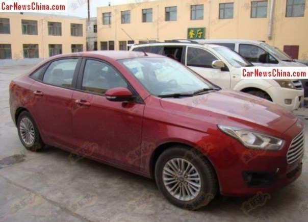 Spy Shots: new Ford Escort is Red for China