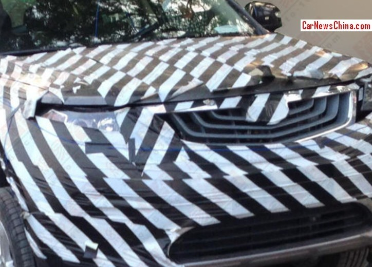 new car launches in early 2015Spy Shots Geely Emgrand SX7 gets a nose job in China