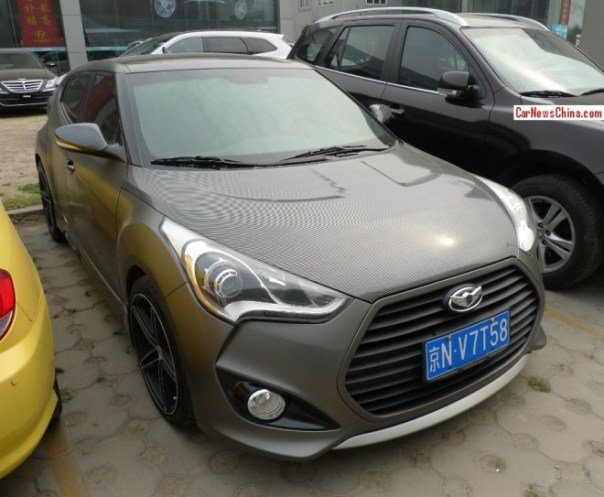 Hyundai Veloster is carbon fiber gray brown in China