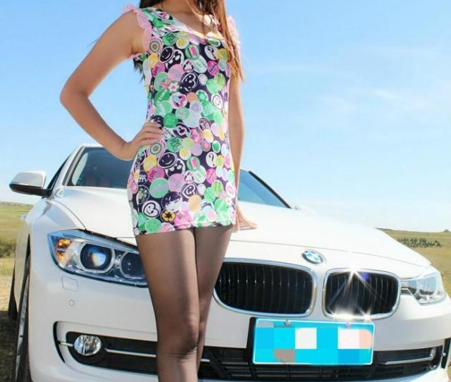 Sweet Chinese Girl Is Sexy With A Bmw Li