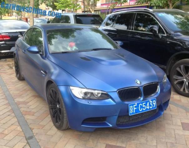 BMW M3 Convertible is matte is Matte Blue in China