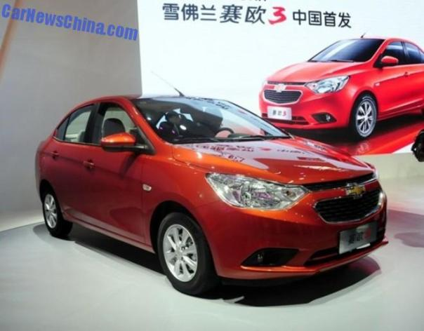 2014 Guangzhou Auto Show: Chevrolet Sail 3 debuts in China