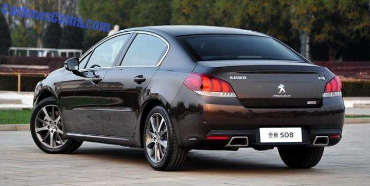new car launches january 2015New Peugeot 508 will be launched in China in January 2015